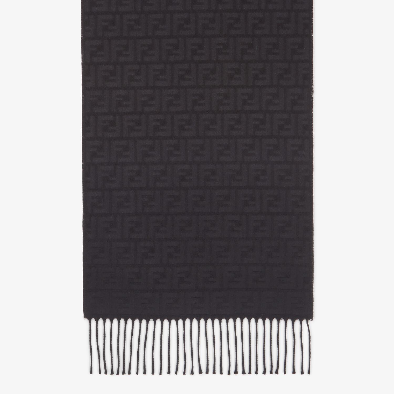 FENDI SCARF - Black silk scarf - view 1 detail
