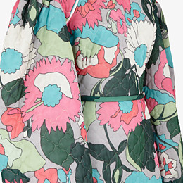 FENDI DRESS - Multicolor quilted fabric dress - view 3 thumbnail