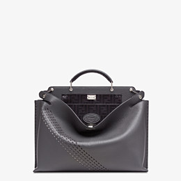 FENDI PEEKABOO ICONIC ESSENTIAL - Grey calf leather bag - view 1 thumbnail