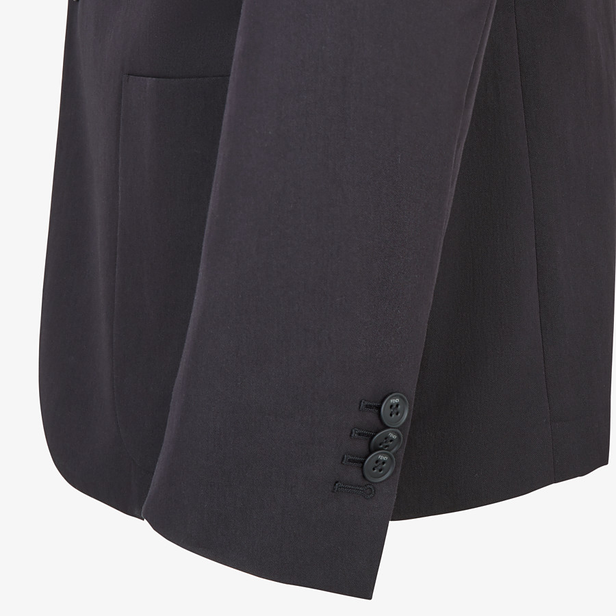 FENDI JACKET - Black cotton blazer - view 4 detail