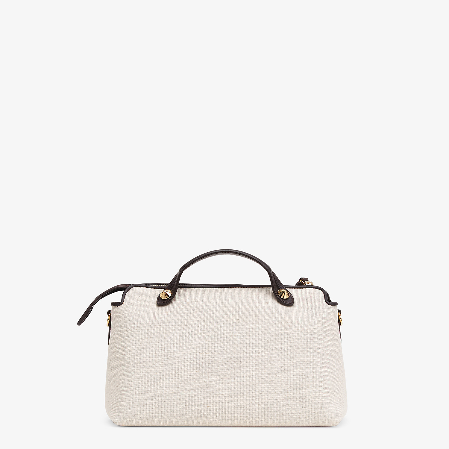 FENDI BY THE WAY MEDIUM - Beige canvas Boston bag - view 3 detail