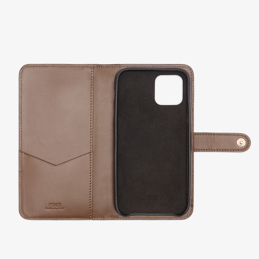 FENDI SMARTPHONE CASE - Brown leather cover - view 2 detail