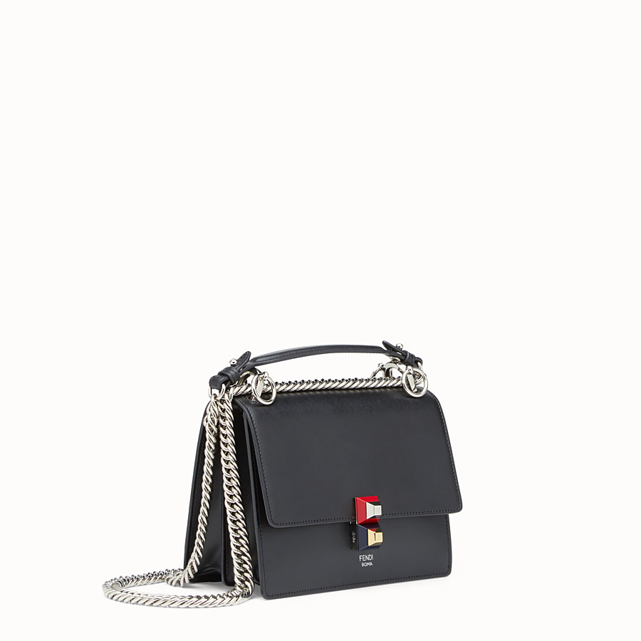 FENDI KAN I SMALL - Black leather mini bag - view 2 detail