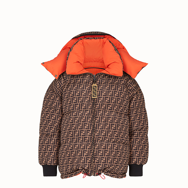 FENDI DOWN JACKET - Multicolour padded down jacket - view 1 small thumbnail