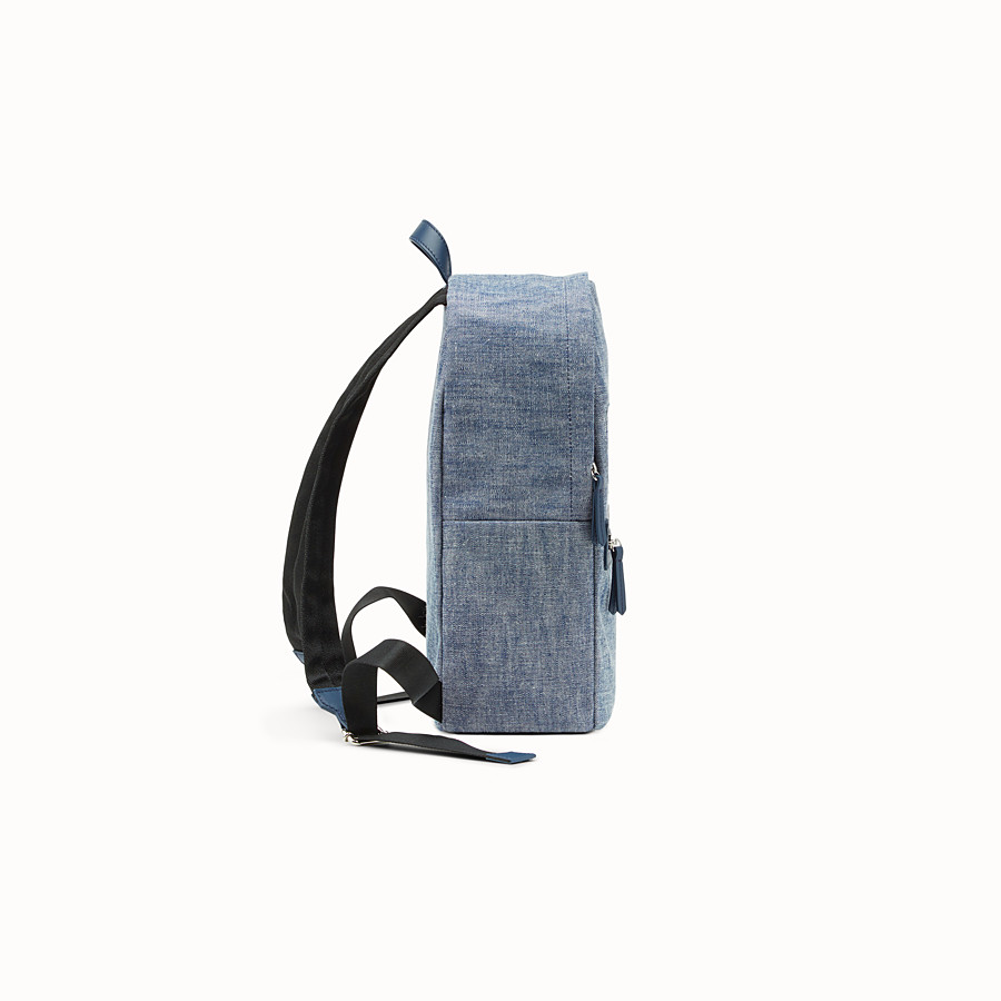 FENDI BABY BACKPACK - Blue denim backpack - view 2 detail