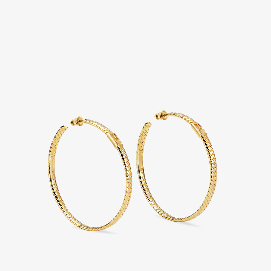 FENDI BAGUETTE LARGE EARRINGS  - Gold-color earrings - view 1 detail