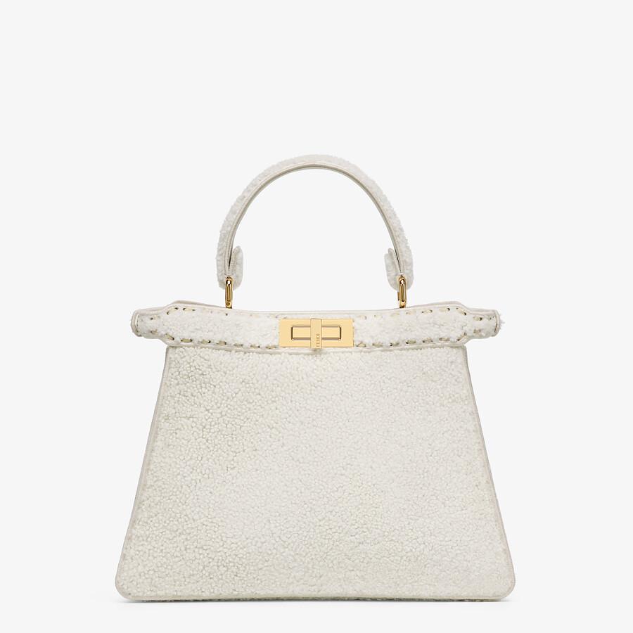 FENDI PEEKABOO ISEEU MEDIUM - White sheepskin bag - view 6 detail