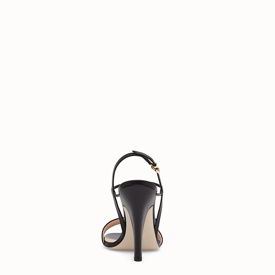 FENDI SANDALS - Black leather sandals - view 3 detail