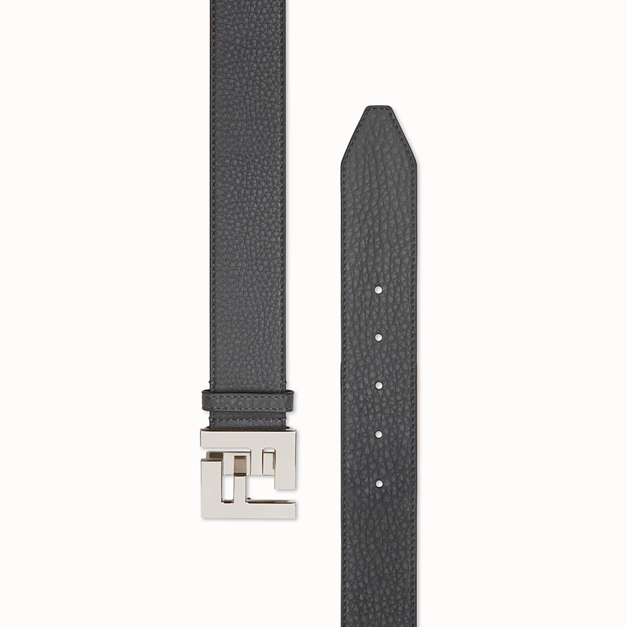 FENDI BELT - Grey leather belt - view 2 detail