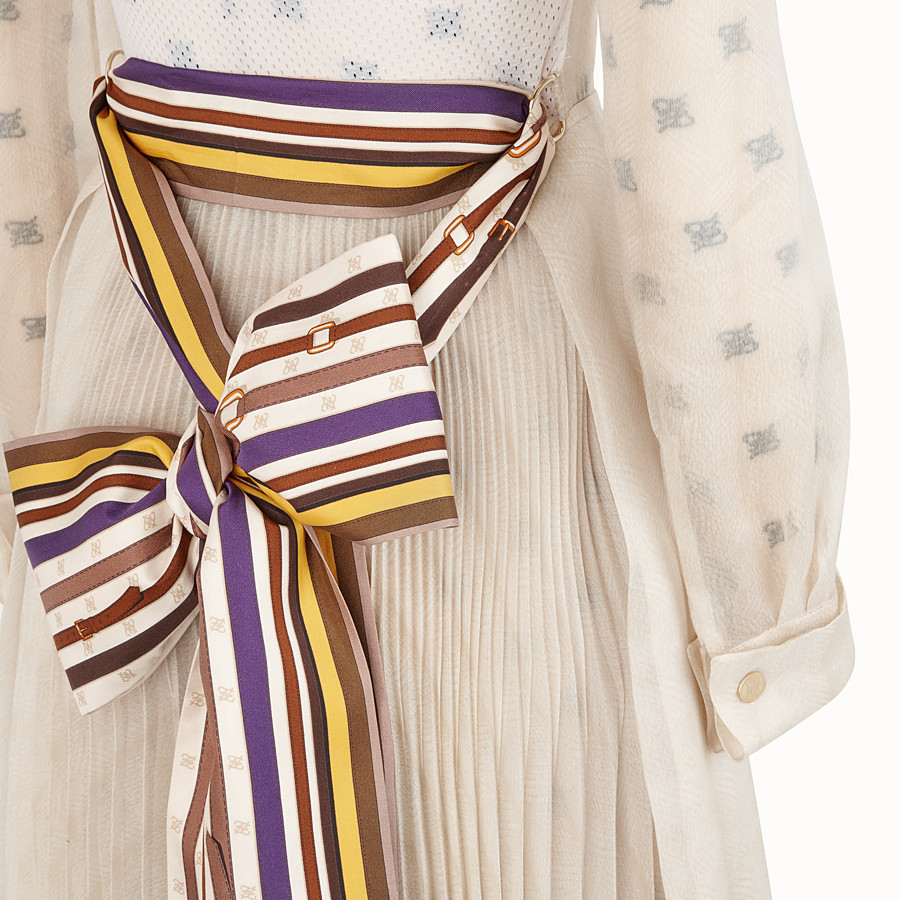 FENDI DRESS - Beige organza dress - view 3 detail
