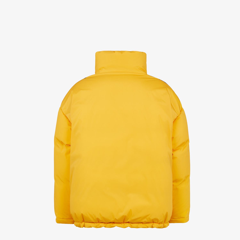 FENDI DOWN JACKET - Yellow tech fabric jacket - view 2 detail