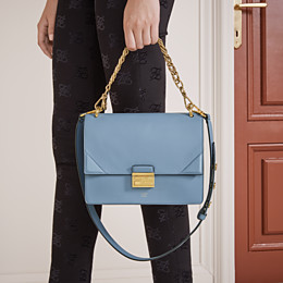 FENDI KAN U - Light blue leather bag - view 2 thumbnail