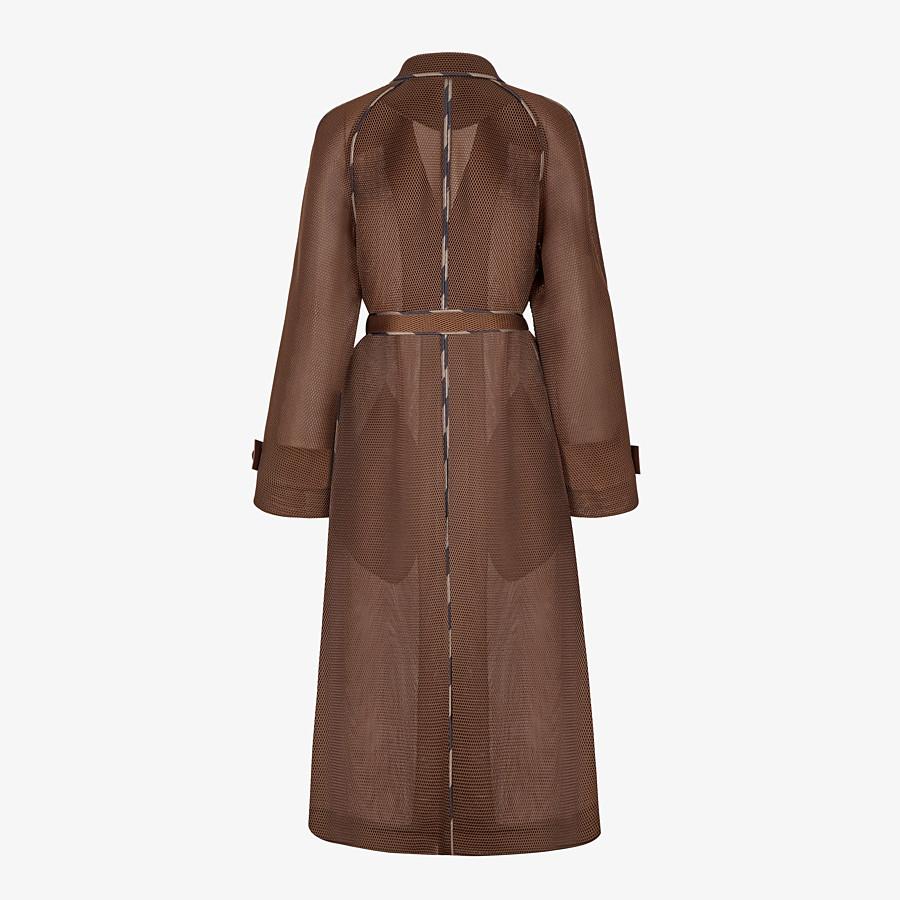FENDI OVERCOAT - Coat in brown tech mesh - view 2 detail