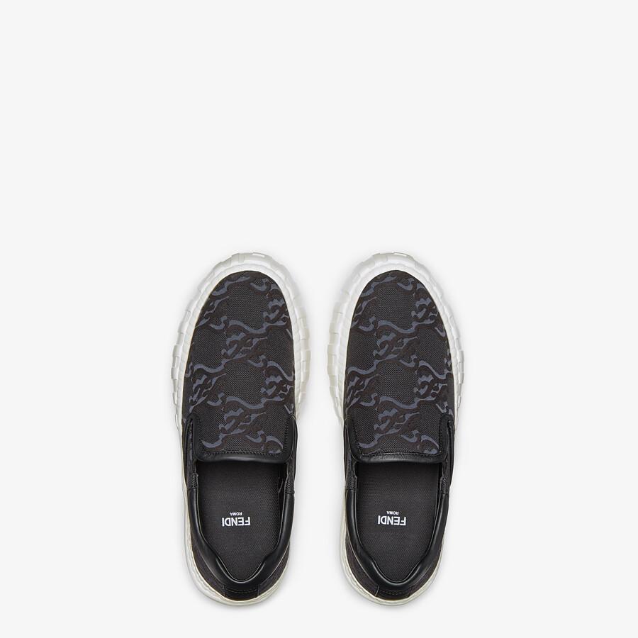 FENDI FENDI FORCE - Black fabric sneakers - view 4 detail