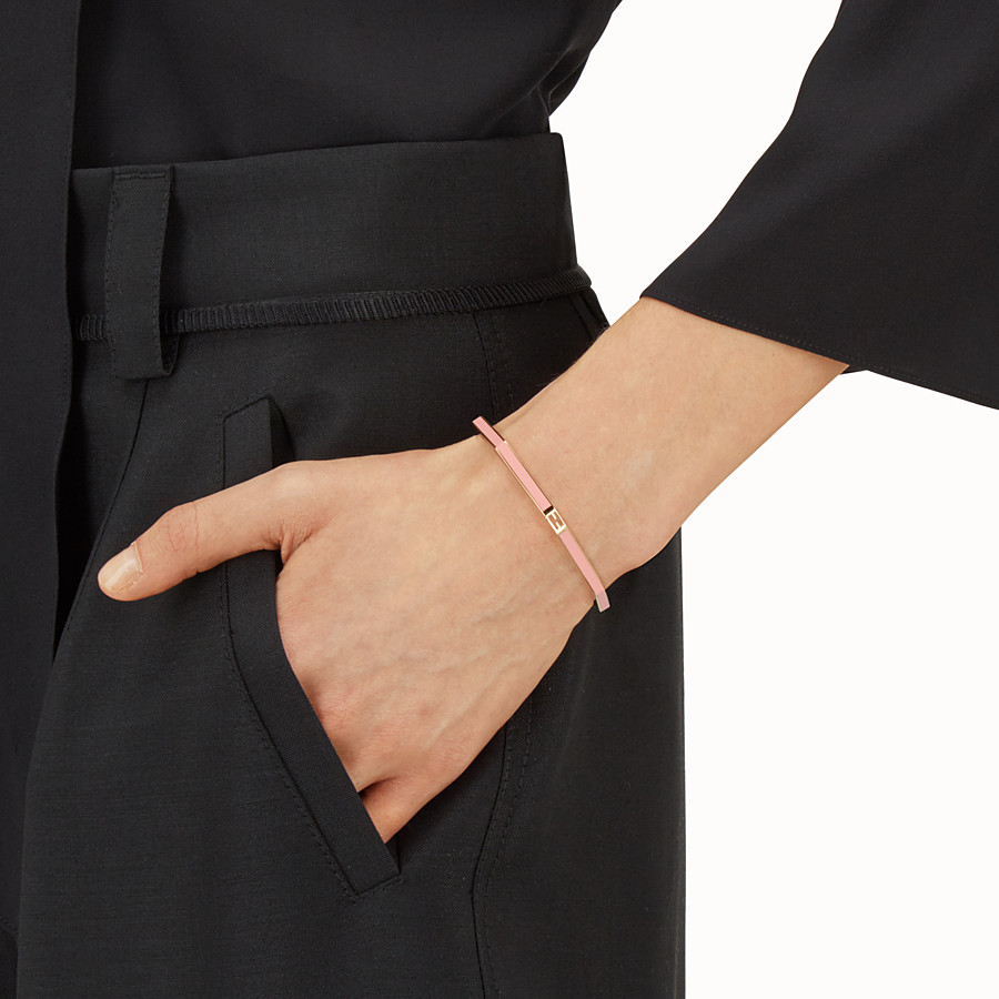 FENDI BAGUETTE BRACELET - Polished pink Baguette bangle - view 2 detail