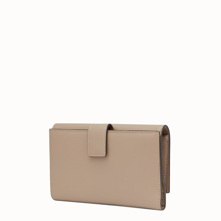 FENDI WALLET - in dove grey leather and plexiglass - view 2 detail