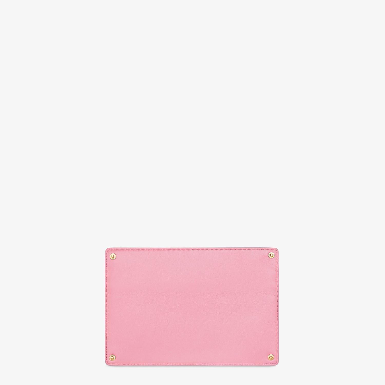 FENDI PEEKABOO ISEEU POCKET - Accessory pocket in pink leather - view 2 detail