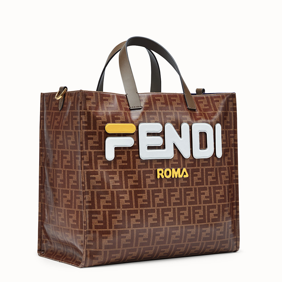 FENDI SHOPPER - Multicolour fabric bag - view 2 detail