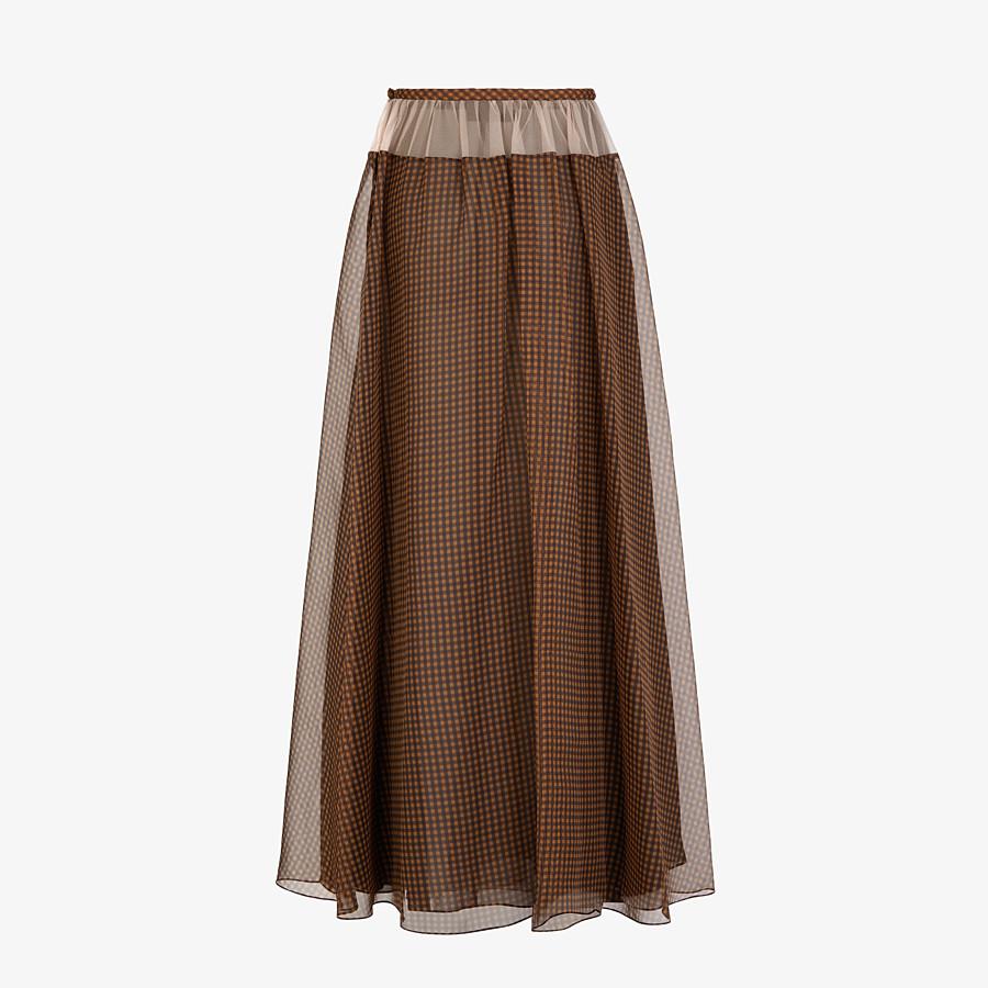 FENDI SKIRT - Check organza skirt - view 2 detail