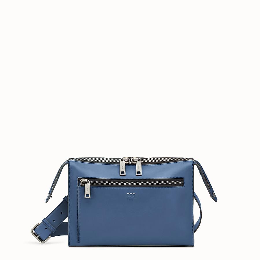 FENDI DOKUMENTENMAPPE - Tasche aus blauem Glattleder - view 1 detail