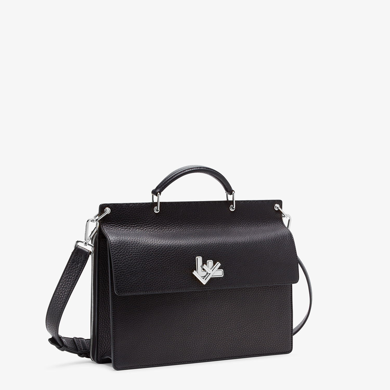 FENDI BUSINESS BAG - Black, calf leather bag - view 2 detail