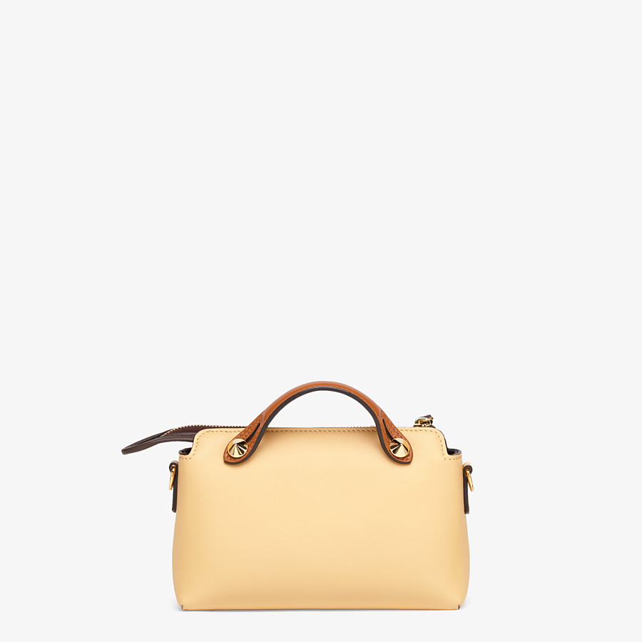 FENDI BY THE WAY MINI - Yellow leather small Boston bag - view 3 detail