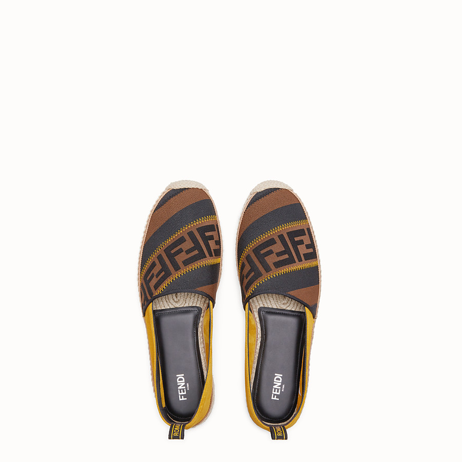 FENDI ESPADRILLES - Yellow split leather espadrilles - view 4 detail