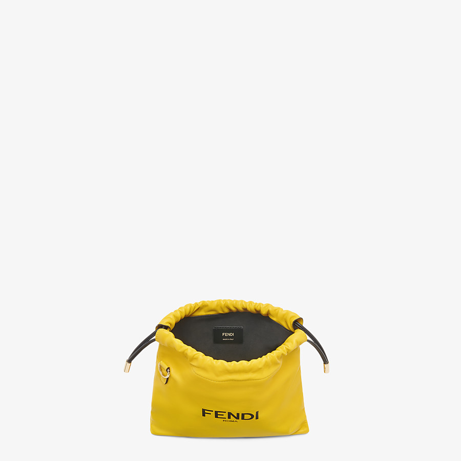 FENDI FENDI PACK SMALL POUCH - Yellow nappa leather bag - view 4 detail