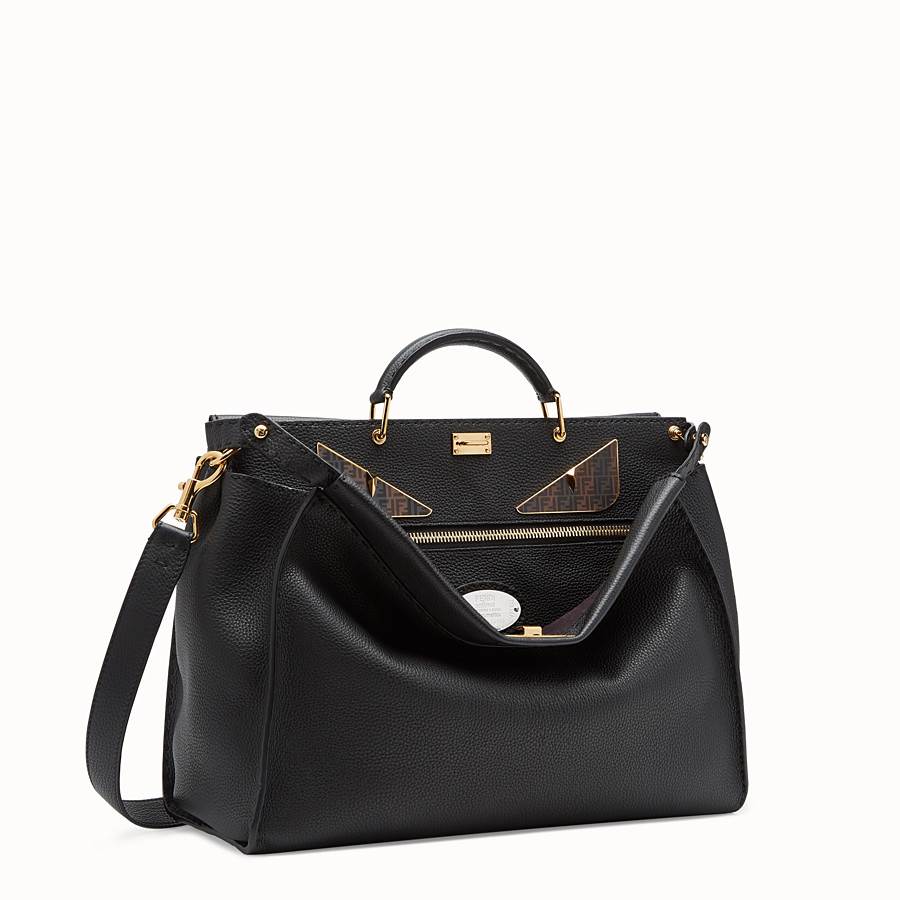 FENDI PEEKABOO REGULAR - Bolso de piel negra - view 2 detail