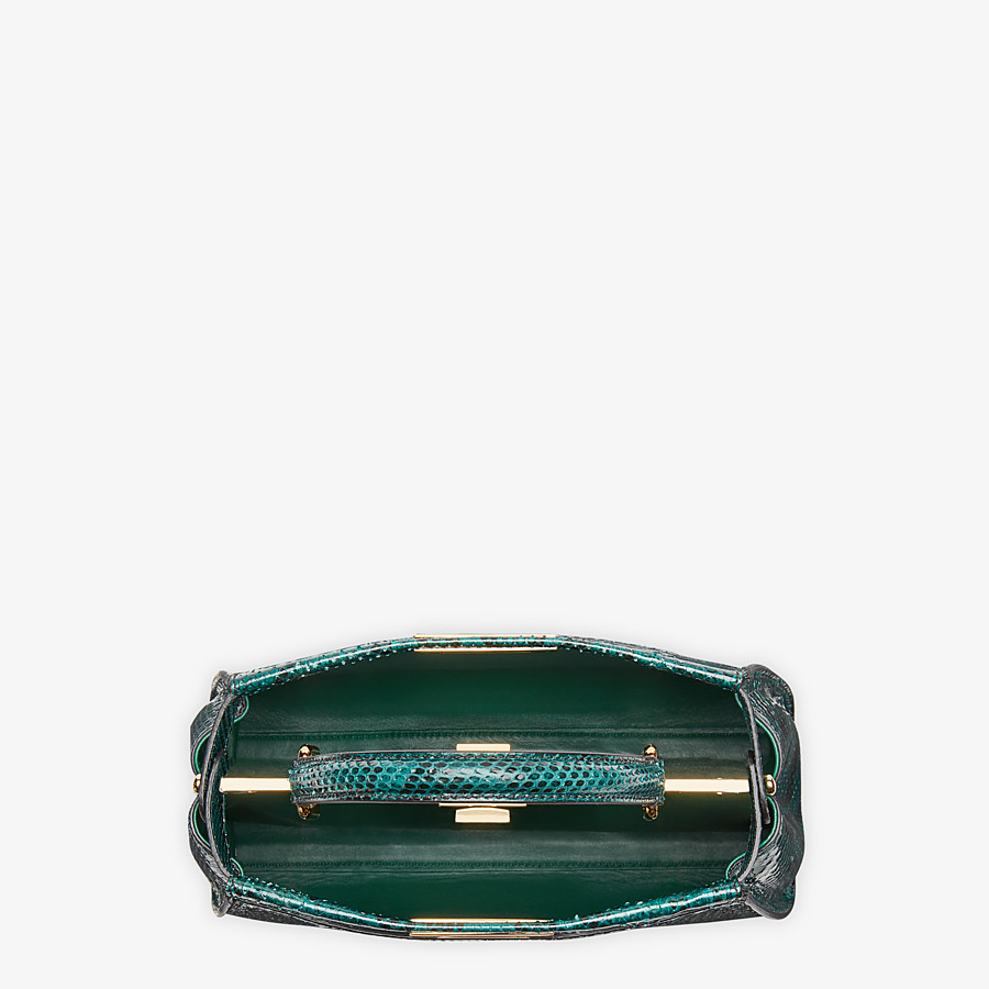FENDI PEEKABOO ICONIC MEDIUM - Green python handbag. - view 4 detail