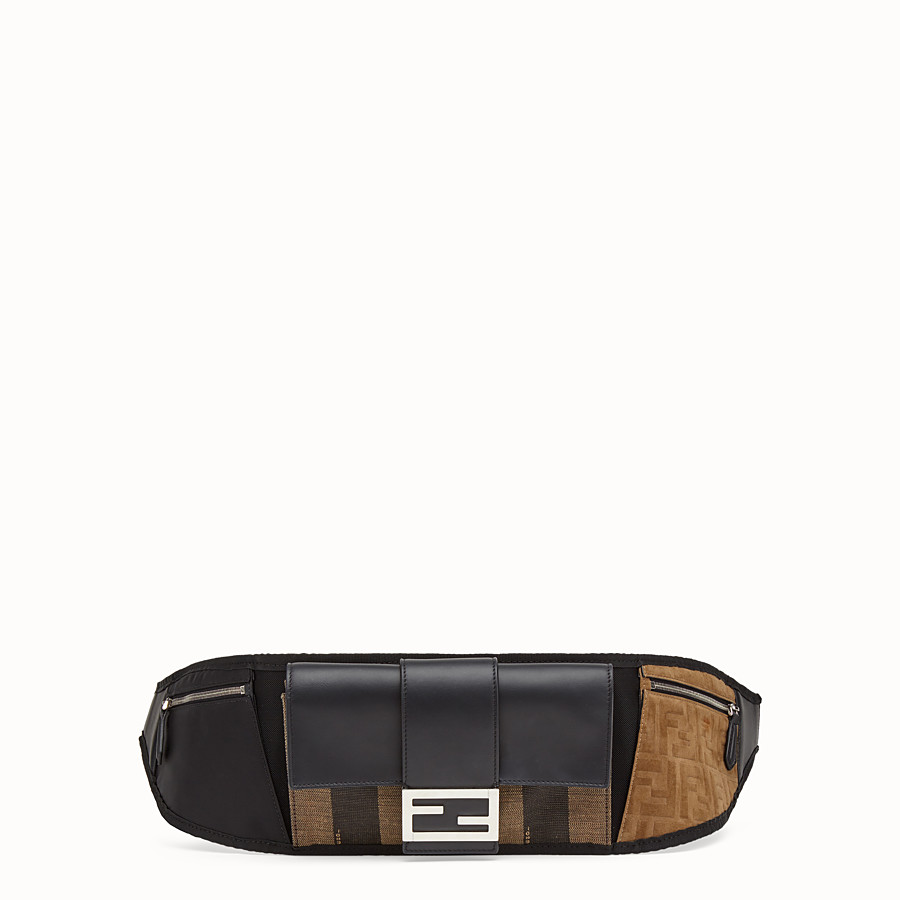 FENDI BAGUETTE BELT - Marsupio in canvas marrone - vista 1 dettaglio