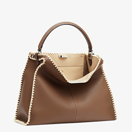 FENDI PEEKABOO X-LITE LARGE - Brown leather bag - view 4 thumbnail