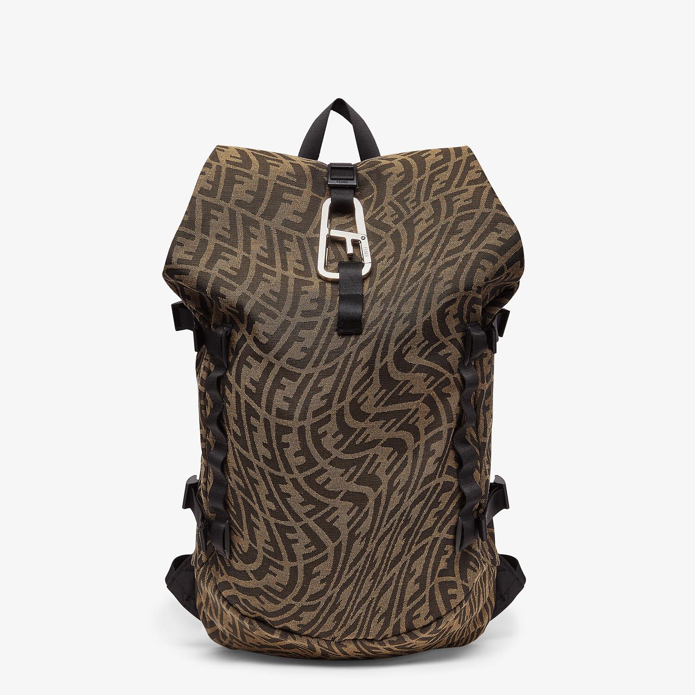 FENDI FERRINO BACKPACK - Backpack in brown FF Vertigo fabric - view 1 detail