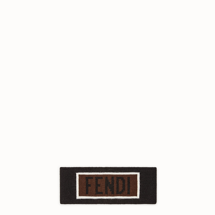 FENDI ヘッドバンド - ブラックウール ヘッドバンド - view 1 detail