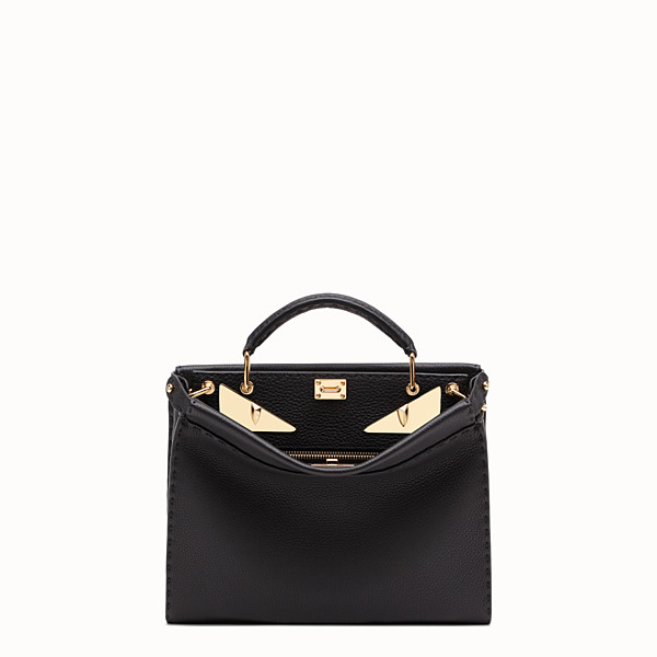 FENDI PEEKABOO ICONIC FIT MINI - Sac en cuir noir - view 1 small thumbnail