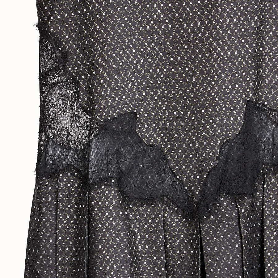 FENDI DRESS - Black silk twill dress - view 3 detail