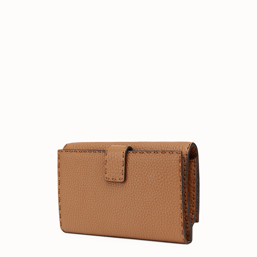 FENDI WALLET - Selleria in toffee Roman leather - view 2 detail