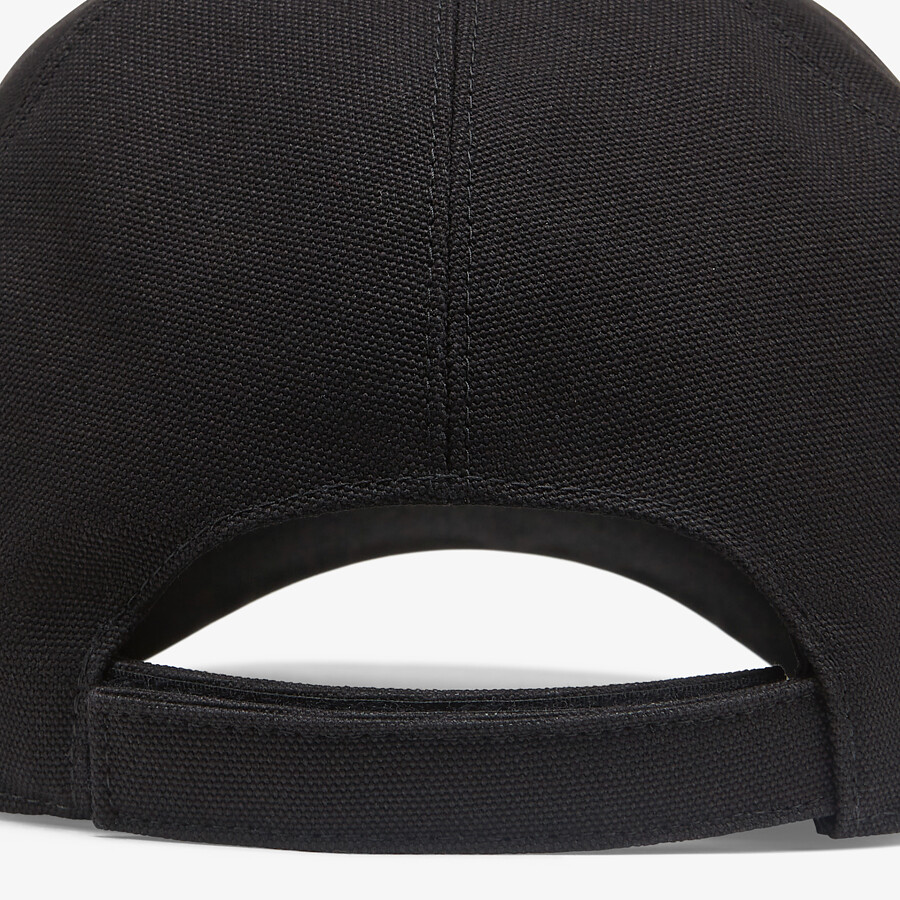 FENDI HAT - Black canvas baseball cap - view 2 detail