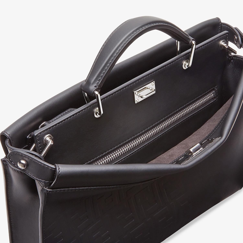 FENDI PEEKABOO ICONIC FIT - Black, calf leather bag - view 5 detail