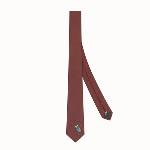FENDI TIE - Burgundy silk tie - view 1 small thumbnail