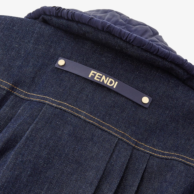 FENDI JACKET - Blue denim jacket - view 4 detail