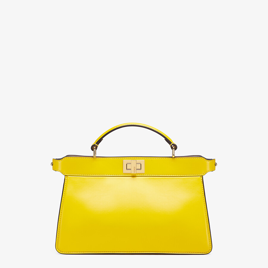 FENDI PEEKABOO ISEEU EAST-WEST - Yellow leather bag - view 1 detail
