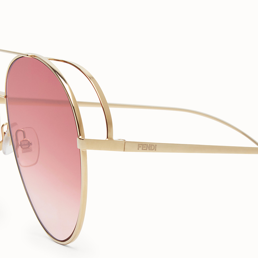 FENDI RUN AWAY - Rose-gold sunglasses - view 3 detail