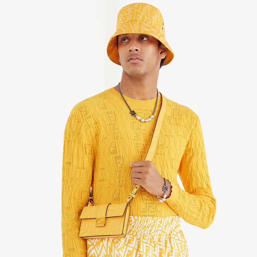 FENDI BAGUETTE POUCH - Yellow fabric bag - view 5 detail
