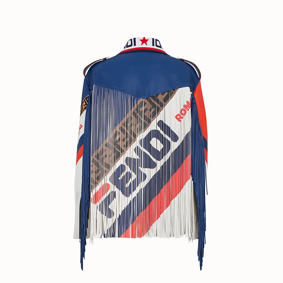 FENDI JACKET - Multicolour leather jacket - view 2 detail