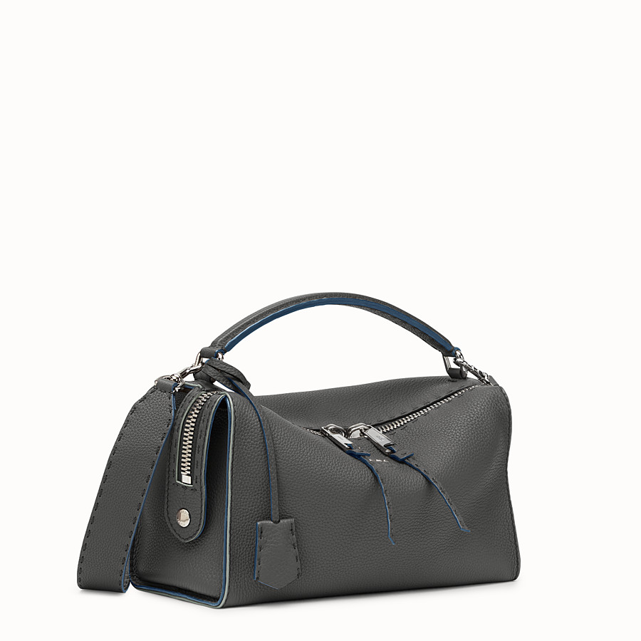 FENDI LEI BAG SELLERIA - gray Roman leather Boston bag - view 2 detail
