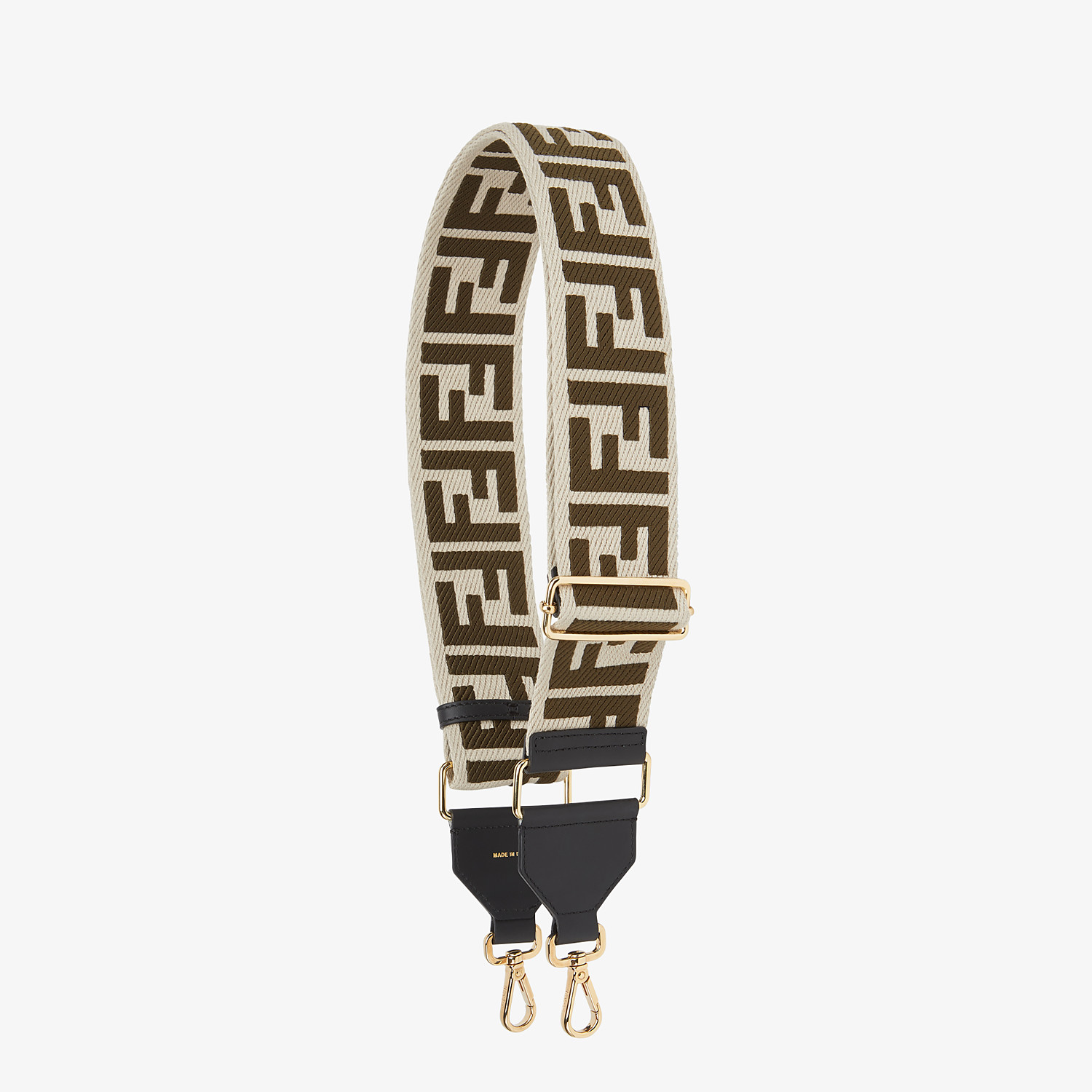 FENDI STRAP YOU - Beige canvas shoulder strap - view 1 detail
