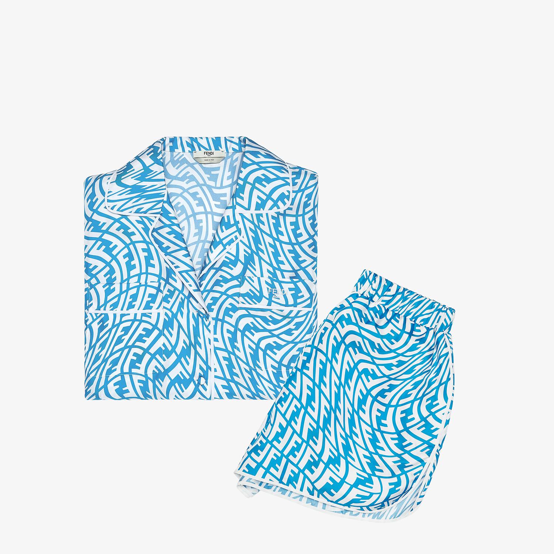 FENDI PIJAMA SET - Light blue silk pyjama set - view 6 detail