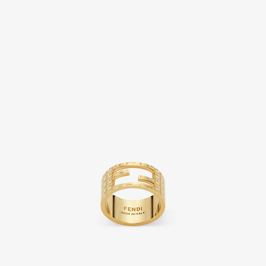 FENDI BAGUETTE RING - Gold-color ring - view 1 detail