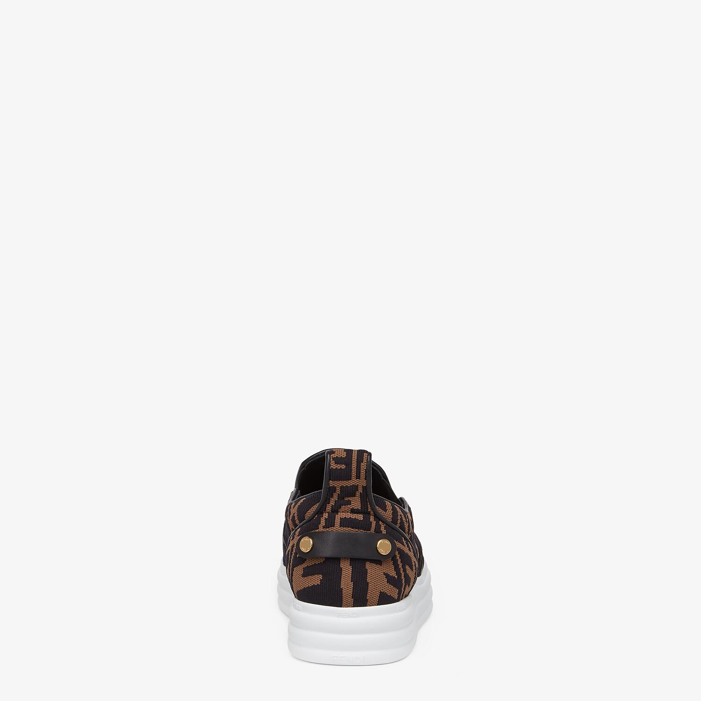 FENDI FENDI RISE - Brown fabric slip ons - view 3 detail